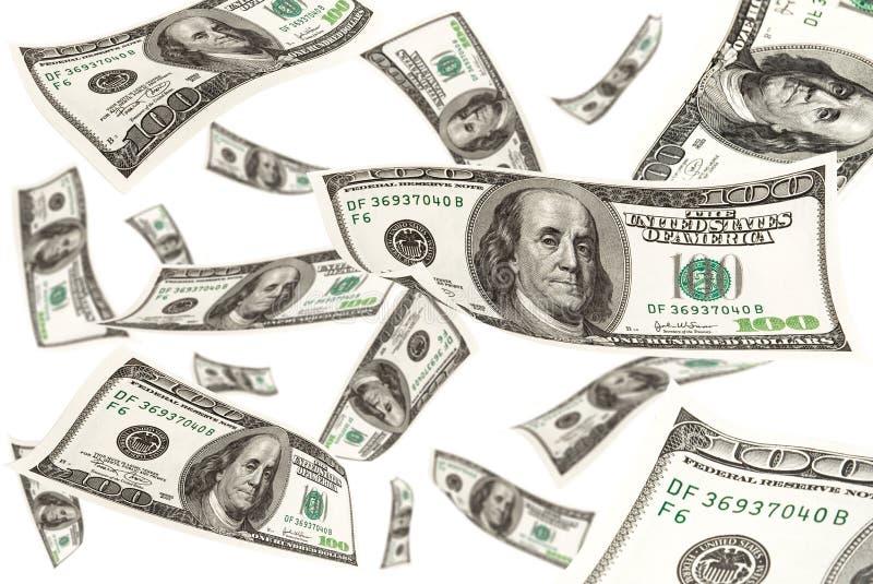 落的货币 免版税库存照片