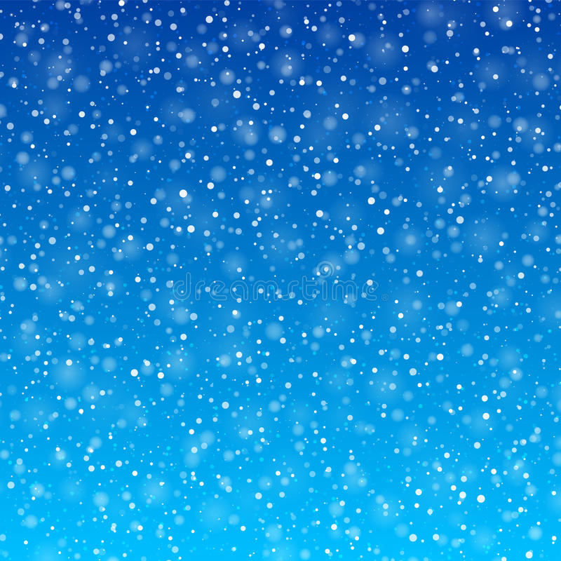 落的雪 向量例证