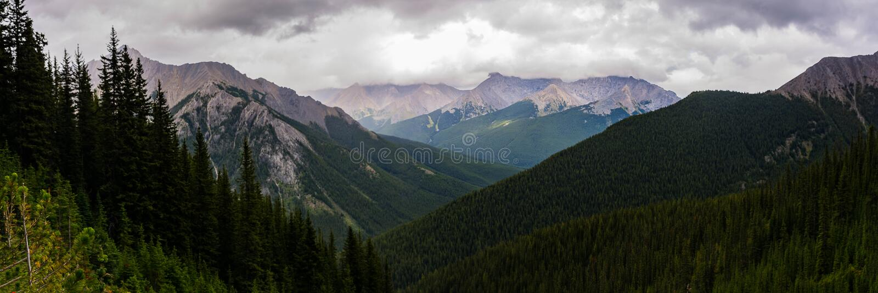 落矶山脉和Cory的通行证的浩大的看法 库存图片