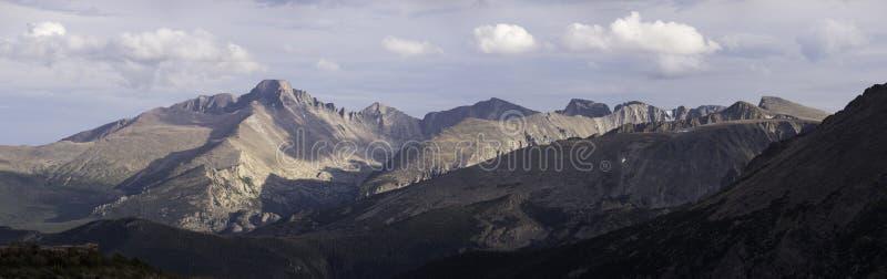 落矶山脉国家公园全景 免版税库存图片