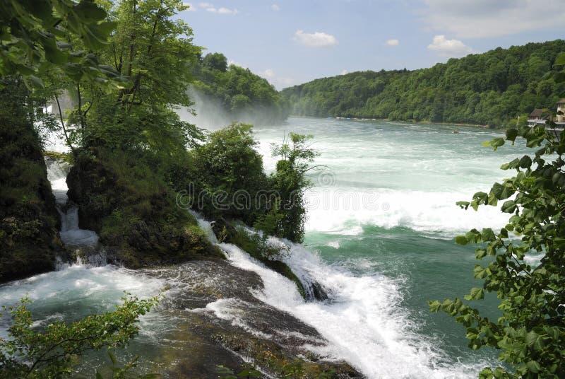 落莱茵河 库存图片