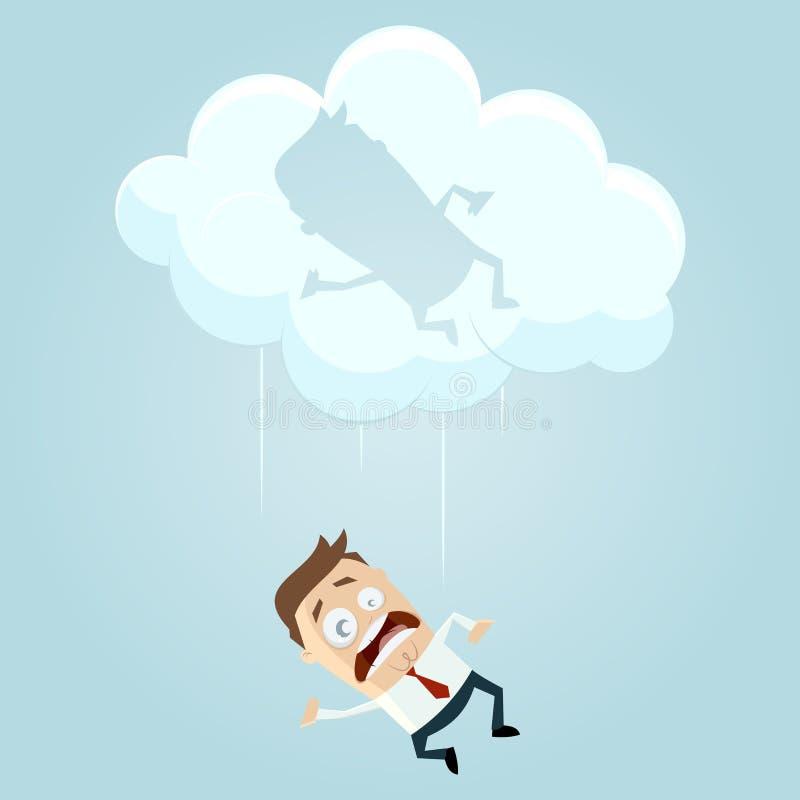 落从云彩 向量例证