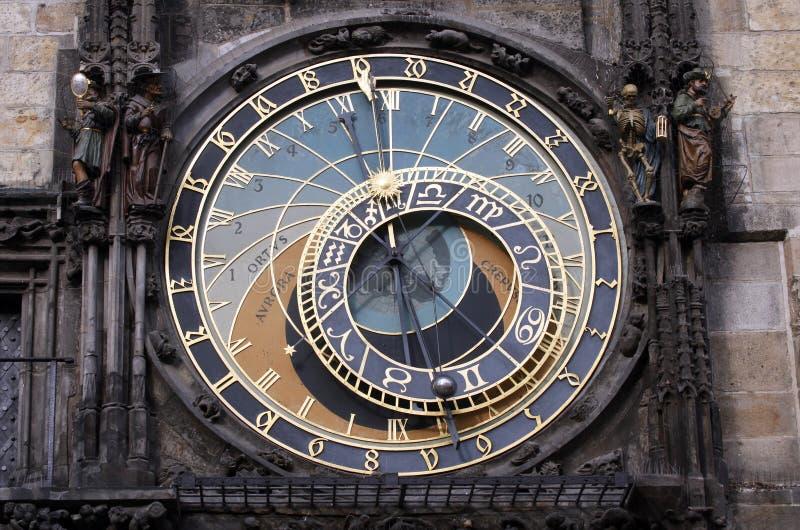 著名中世纪天文学时钟在布拉格 免版税库存照片