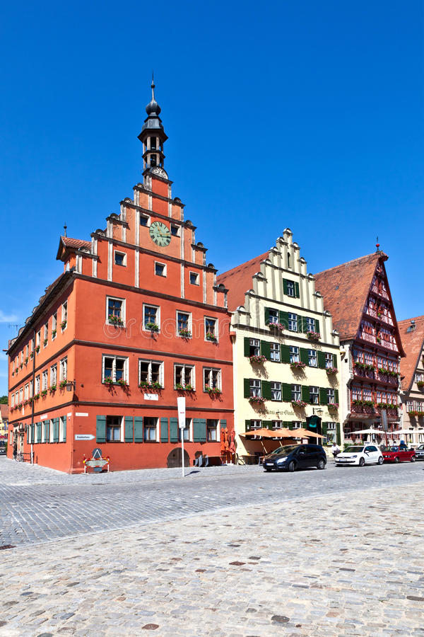 著名中世纪老浪漫城镇 库存照片