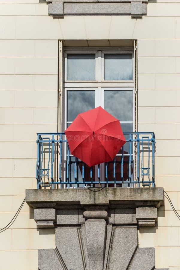 著名伞在瑟堡,诺曼底,法国 免版税库存照片