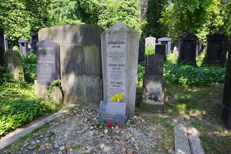 著名作家弗朗茨・卡夫卡坟墓  免版税图库摄影