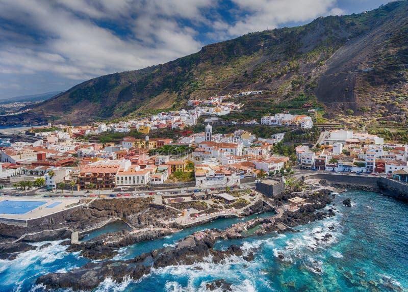 著名加拉奇科水池在特内里费岛,加那利群岛-西班牙 免版税库存图片
