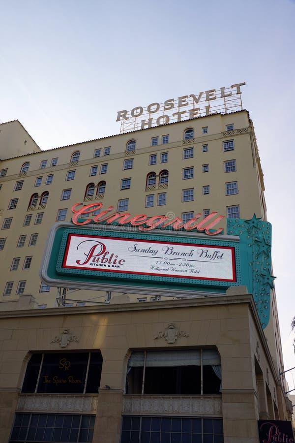 著名历史的罗斯福旅馆门面  免版税库存图片