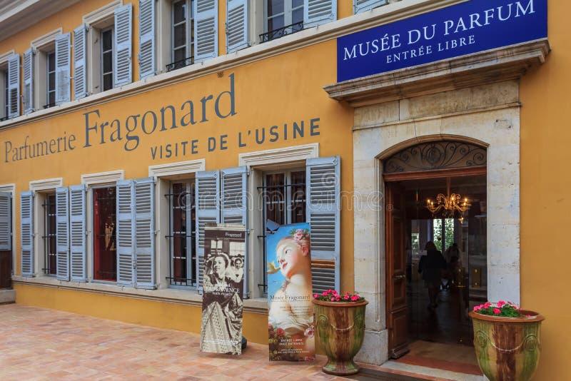 著名古老昂诺列香料厂博物馆在格拉斯法国t 免版税图库摄影