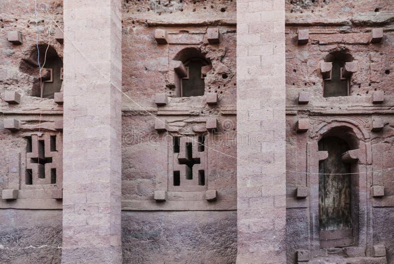 著名古老正统岩石lalibela埃塞俄比亚被砍成的教会  库存图片