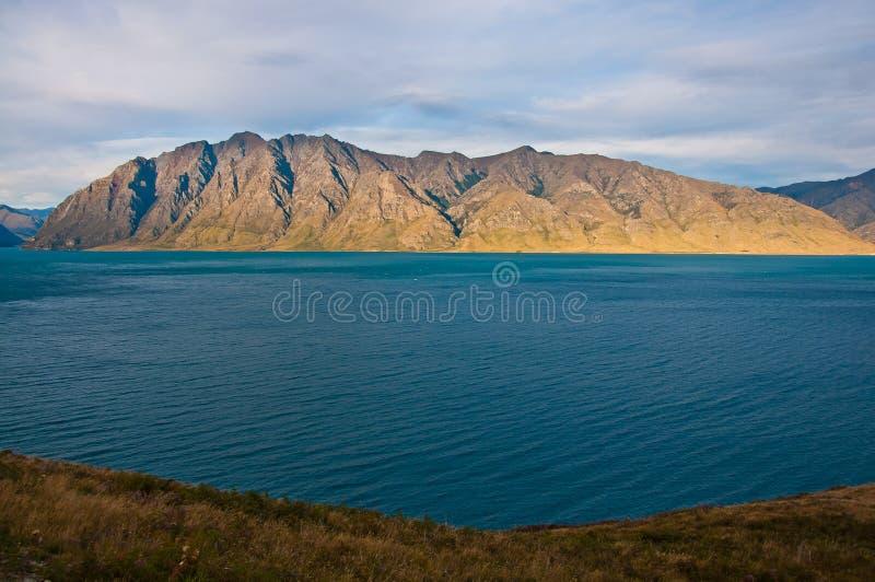 著名哈威亚湖在Wanaka 库存照片