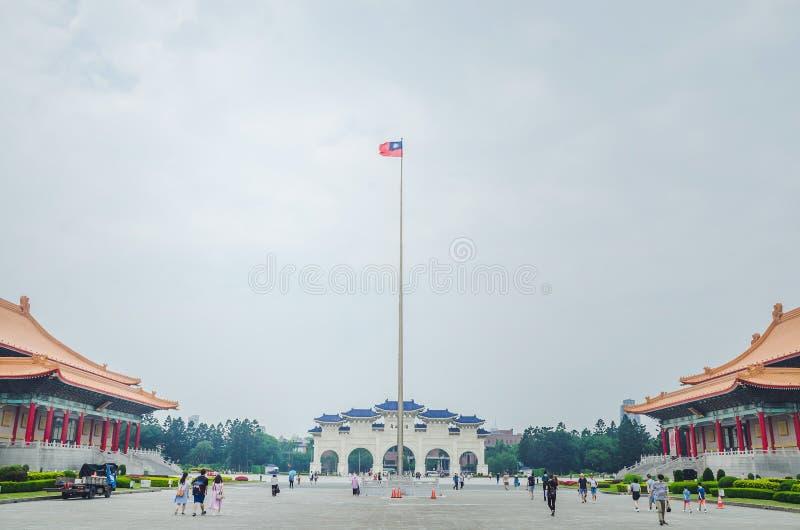 著名国家戏院台湾霍尔中正纪念堂,台北,台湾全国台湾民主正方形的  库存图片