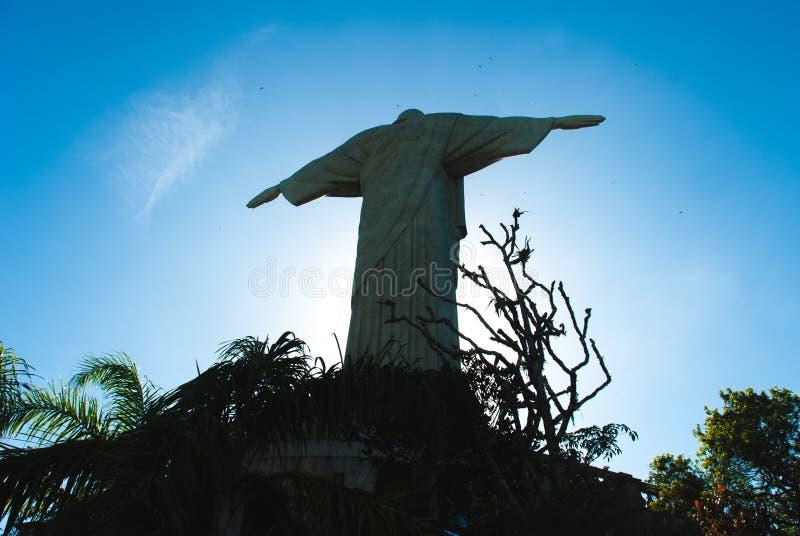 著名基督救世主在里约热内卢,巴西 库存照片