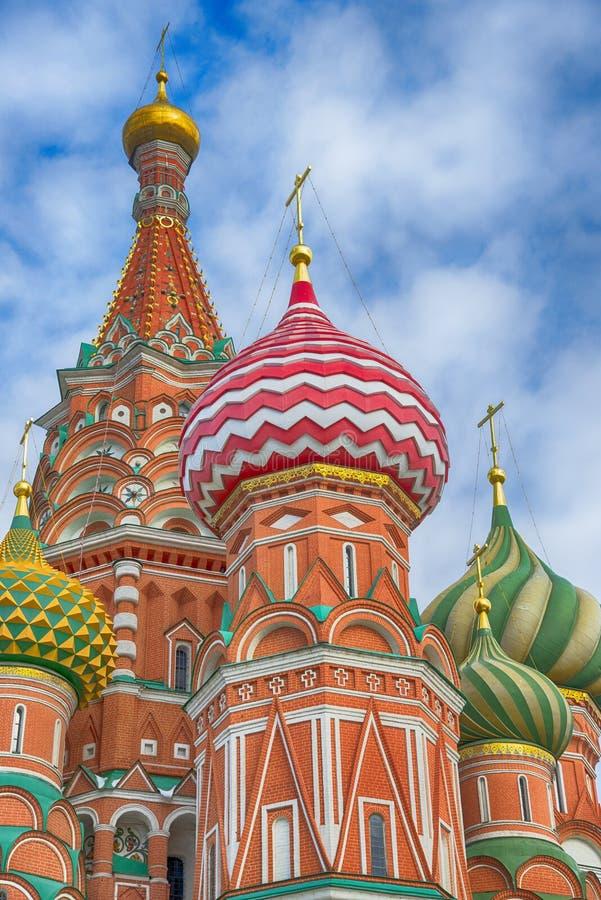著名大教堂圣保佑的蓬蒿 莫斯科红场 免版税库存图片