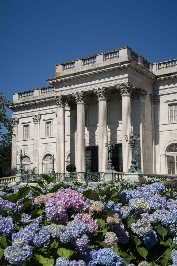 著名大理石议院在纽波特,RI 库存照片