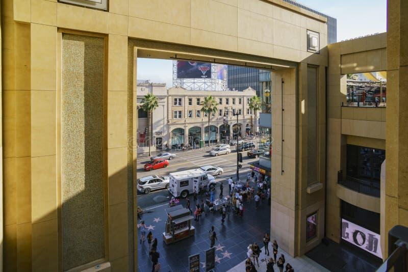 著名好莱坞地区的杜比剧院 库存照片