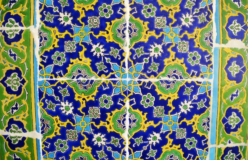 著名宫殿伊兹尼克瓦片细节  Topkapi,Instambul,土耳其 免版税库存图片