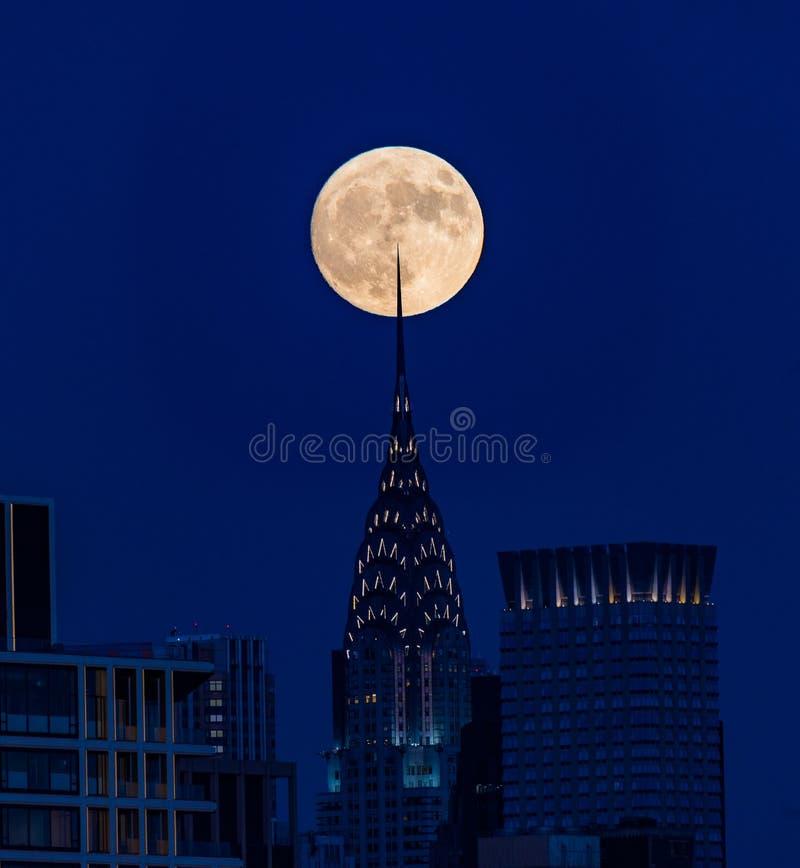 著名射击-超级月亮 免版税库存图片