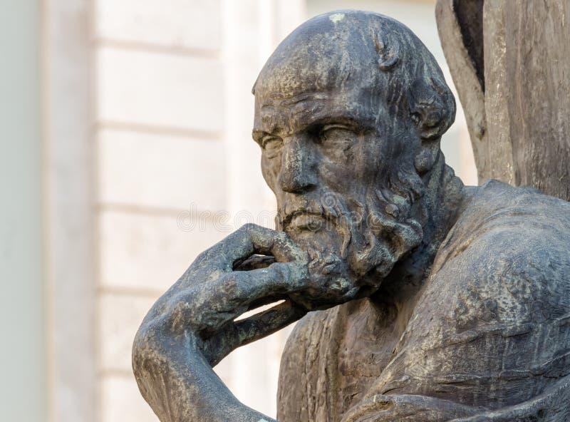 著名希腊哲学家 免版税库存照片
