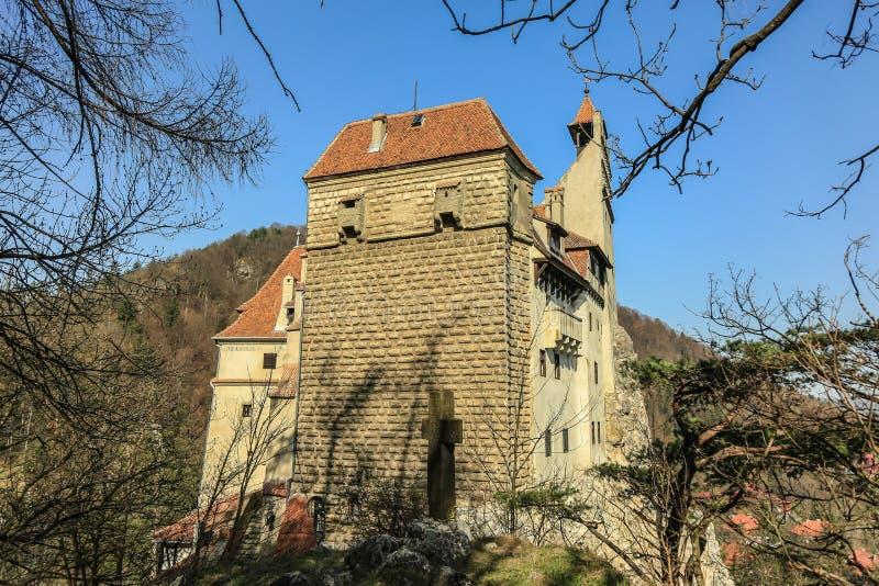 著名德雷库拉城堡麸皮 免版税库存图片