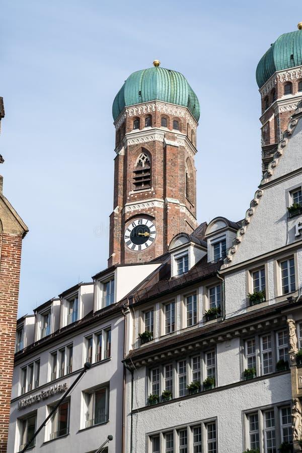 著名慕尼黑大教堂,也告诉了我们亲爱的夫人Cathedral,慕尼黑 库存图片
