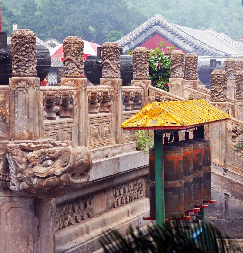 著名普宁寺庙的片段在承德,中国 库存图片