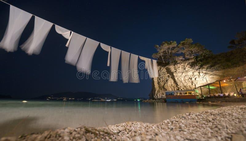 著名有浮雕的贝壳海岛,扎金索斯州的 免版税库存照片