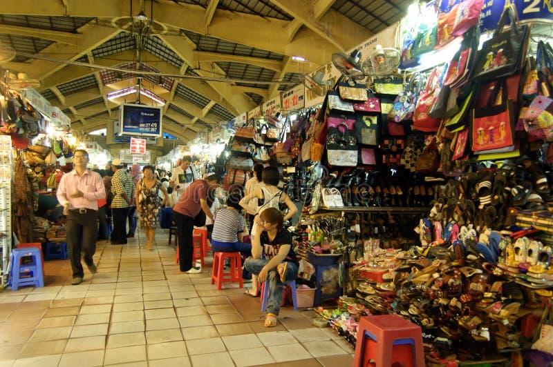 著名本Thanh市场在胡志明市 免版税库存照片