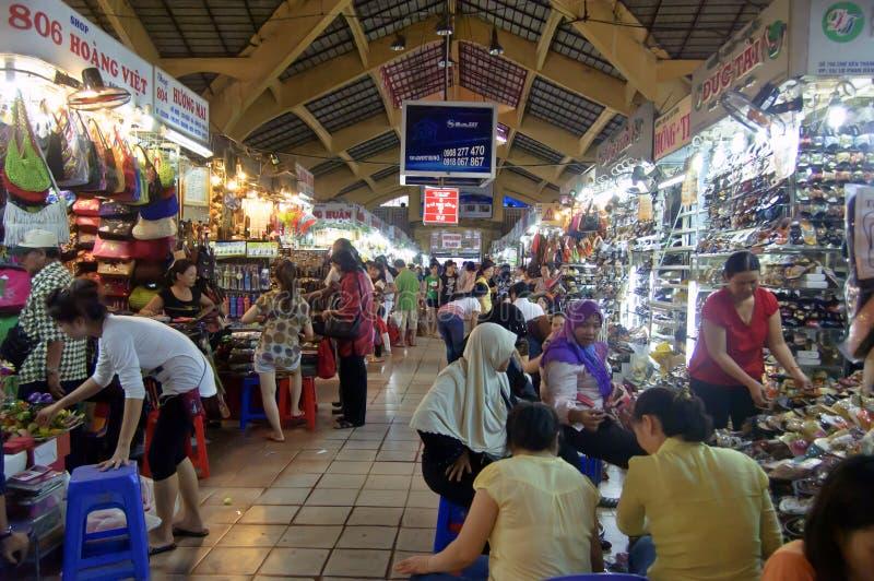 著名本Thanh市场在胡志明市 免版税图库摄影