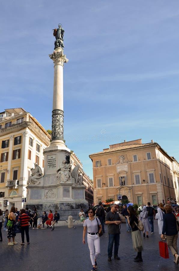 著名正方形在罗马 库存照片