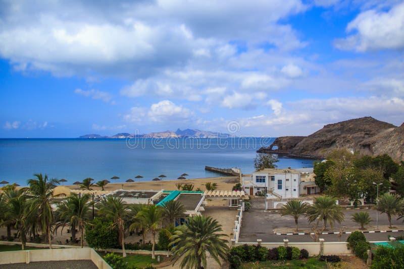 著名海滩大象在阿吨,也门 库存照片