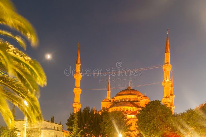 Download 著名清真寺在土耳其市伊斯坦布尔 库存图片. 图片 包括有 东部, 伊斯兰, 著名, 蓝色, 晚上, 聚会所 - 72364575