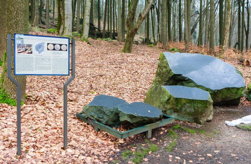 著名温泉渡假胜地Marianske Lazne在捷克 Geologi 免版税库存照片