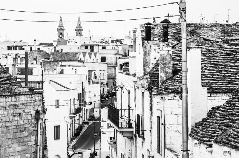 著名特鲁利村庄在阿尔贝罗贝洛,普利亚 库存照片