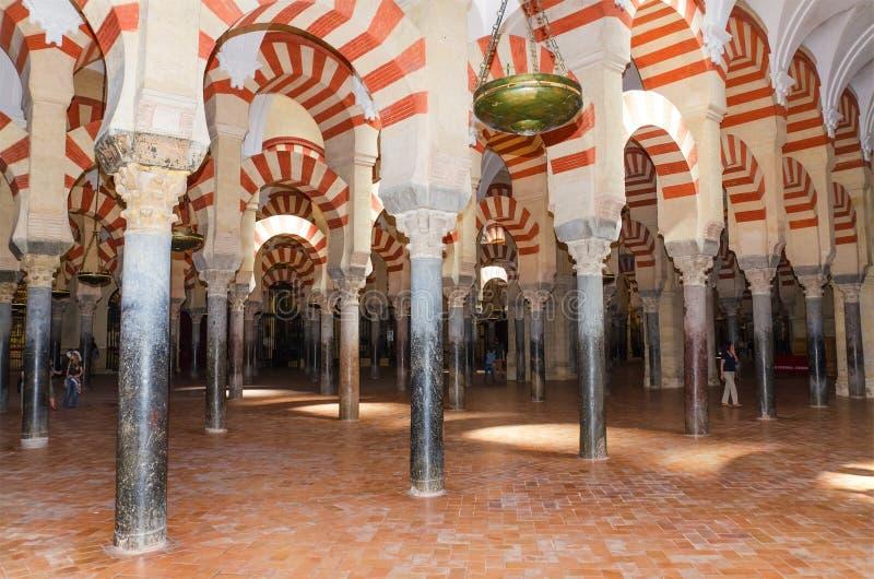 著名科多巴清真寺,科多巴,西班牙 库存照片