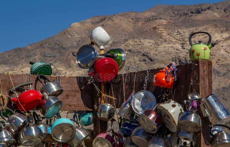 著名茶壶连接点在死亡谷国家公园,加利福尼亚 图库摄影