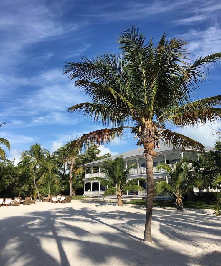 著名议院在伊斯拉摩拉迈阿密 库存图片
