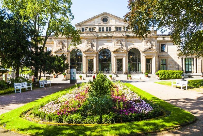著名赌博娱乐场在威斯巴登 免版税库存图片