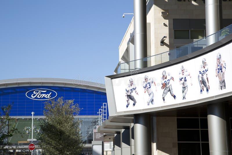 著名达拉斯牛仔球员图片和福特集中 免版税图库摄影