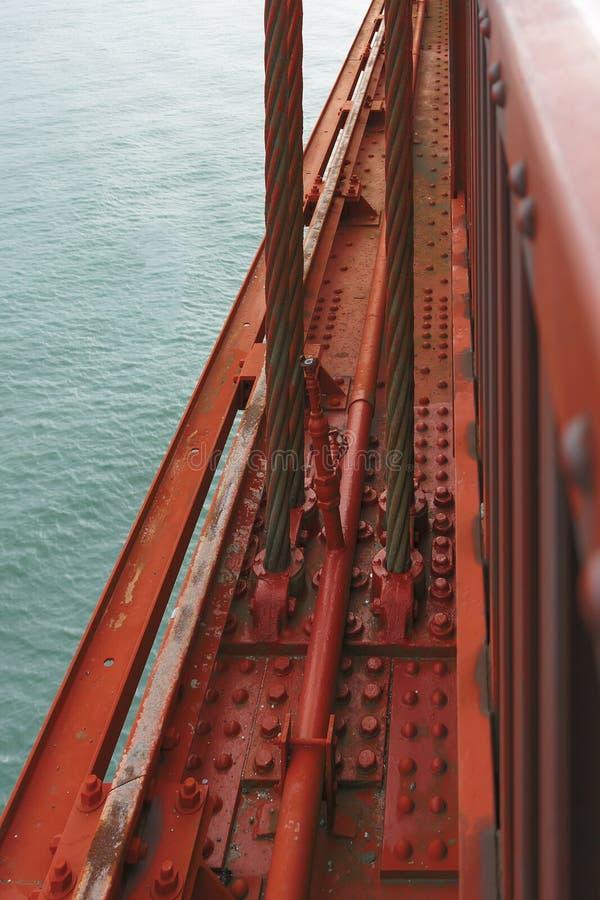 著名金门大桥的细节 库存图片