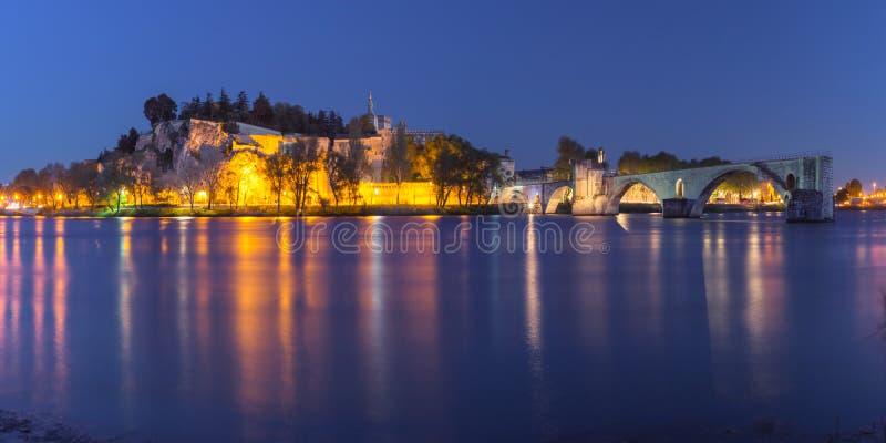 著名阿维尼翁桥梁,法国 免版税库存照片