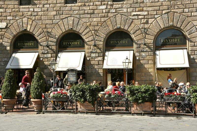 著名餐馆在佛罗伦萨,意大利 库存图片
