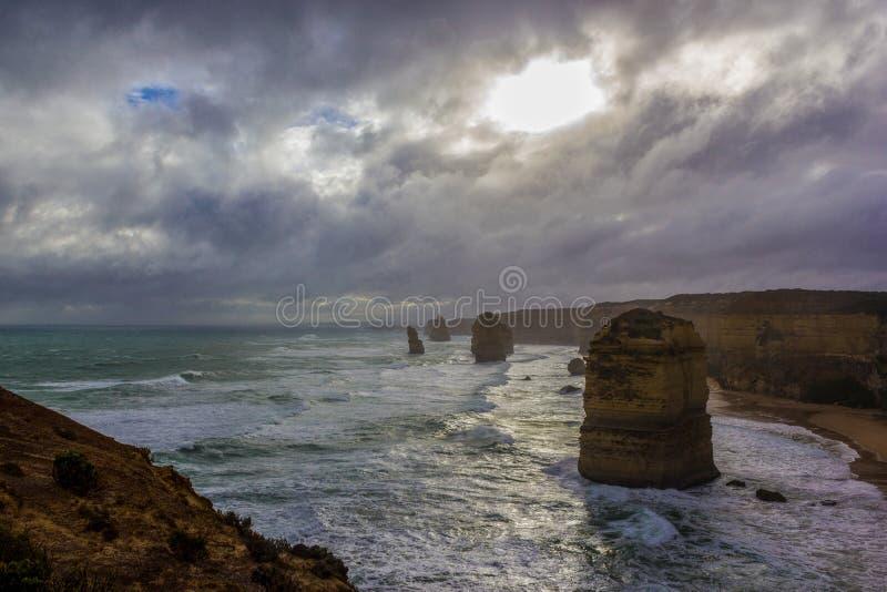 著名4 12 Apostel,维多利亚,十二使徒岩,大洋路,维多利亚 免版税图库摄影