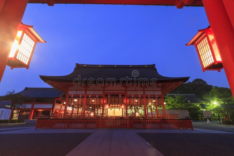 著名Fushimi Inari-taisha在京都 库存照片