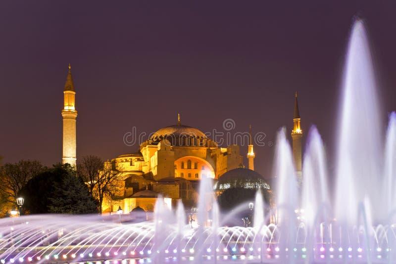 著名hagia伊斯坦布尔sophia 伊斯坦布尔,土耳其 免版税库存照片