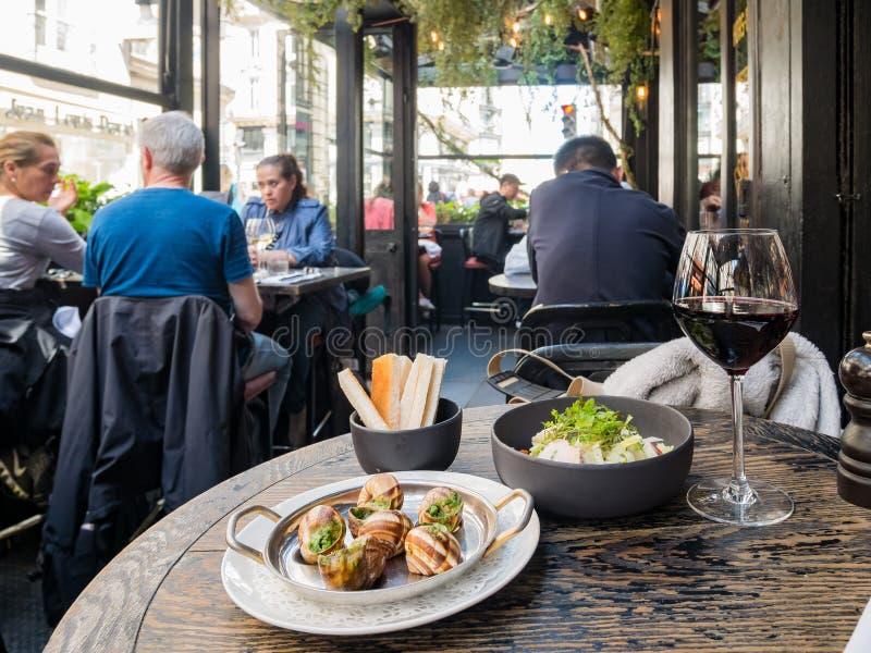 著名L'Escargot Montorgueil餐馆 库存图片