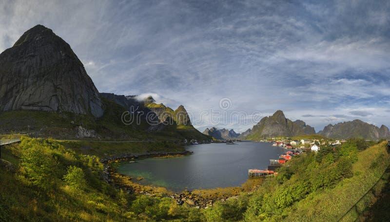 著名Lofoten,挪威风景,诺尔兰 免版税库存图片