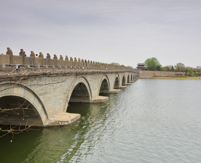 著名lugouqiao桥梁,多孔黏土rgb 库存图片