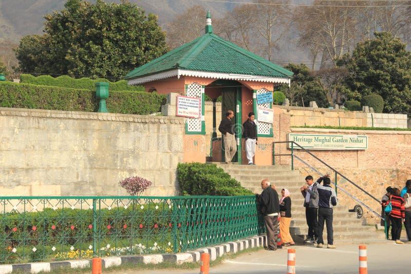 Mughal庭院在克什米尔。 免版税库存图片