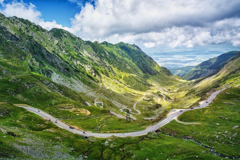 著名Tranfagarasan路,罗马尼亚 库存照片